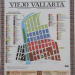 Signs with Viejo Vallarta Map are found throughout Old Town.