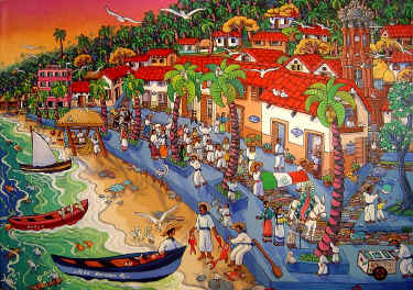 Painting of Puerto Vallarta