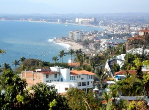 View overlooking Banderas Bay and Puerto Vallarta